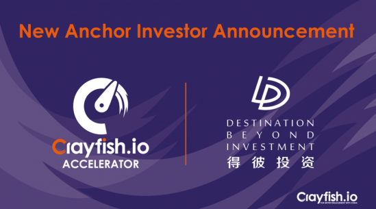 Crayfish.io Accelerator funding increases five-fold with second anchor investor, DBI