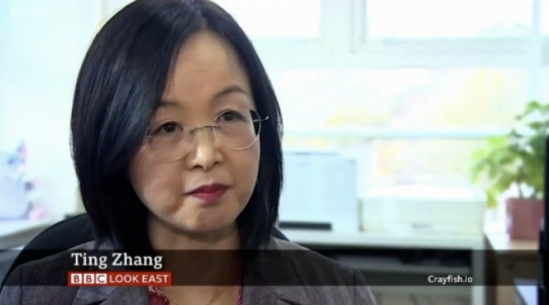 Ting Zhang talks about Coronavirus on Look East BBC One